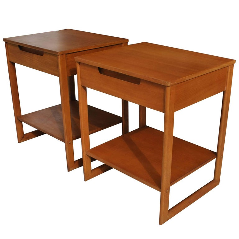 Pair of Vintage Drexel Mid Century Milo Baughman Night Stands Side Tables
