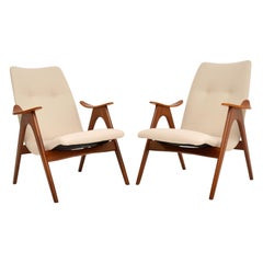 Pair of Vintage Dutch Armchairs by Louis Van Teeffelen