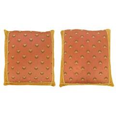 Pair of Vintage European Textile Pillows