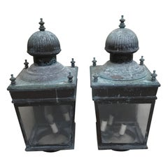 Pair of Vintage Exterior Lanterns