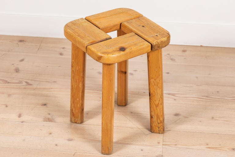 Mid-20th Century Pair of Vintage Finnish Pine Stools For Sale