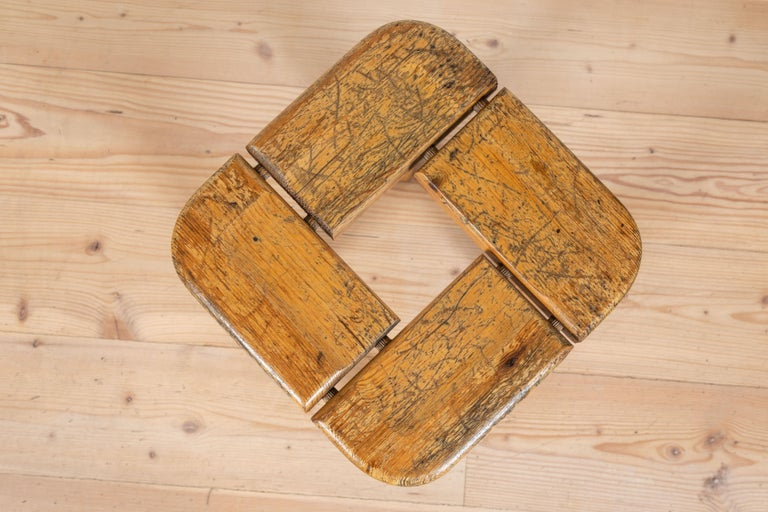 Pair of Vintage Finnish Pine Stools For Sale 1