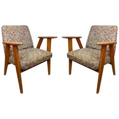 Pair of Vintage Floral Pattern Armchairs