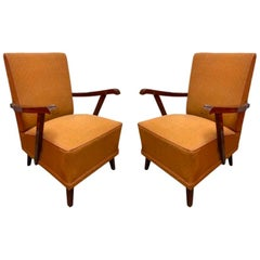 Pair of Vintage French Art Deco Armchairs