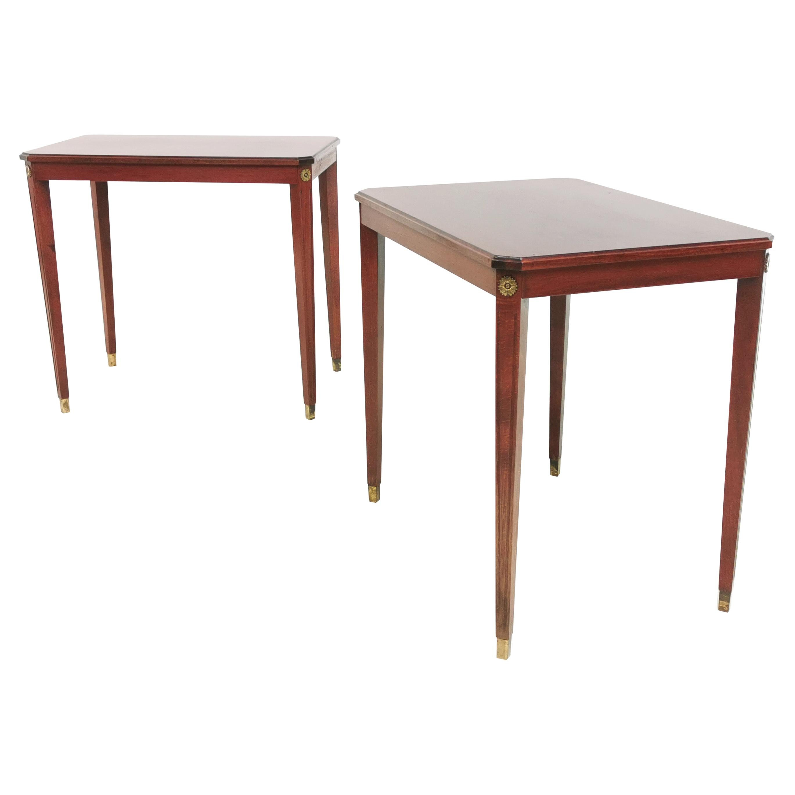 Pair of Vintage French Empire Style Side Tables