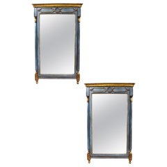 Pair of Vintage French Painted Mirrors