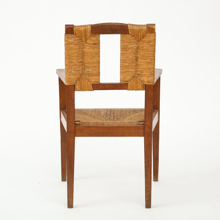 Pair of Vintage French Rush Armchairs For Sale 3