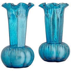 Pair of Vintage Glass Vases