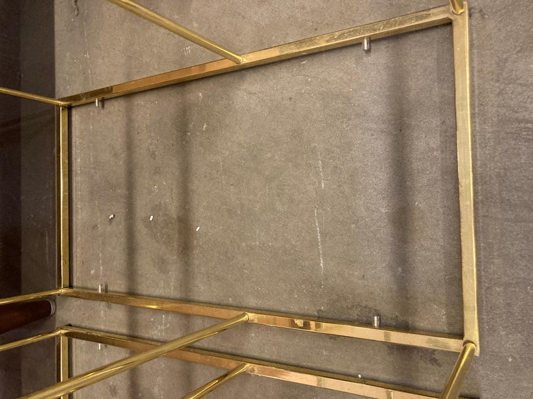 Pair of Vintage Golden Chrome Tiered Side Tables For Sale 5