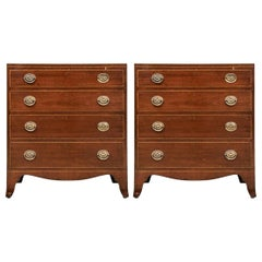 Pair of Vintage Hepplewhite Style Chests for Restoration