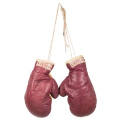 Pair of Vintage Horse Hair and Leather Boxing Gloves, circa 1940