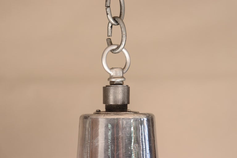 Pair of Vintage Industrial Aluminum Floodlight Pendants For Sale 5