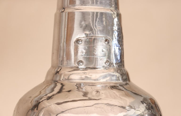 Pair of Vintage Industrial Aluminum Floodlight Pendants For Sale 2