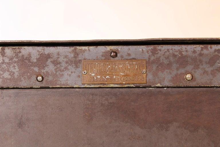 Pair of Vintage Industrial Bedside Tables / Nightstands For Sale 5