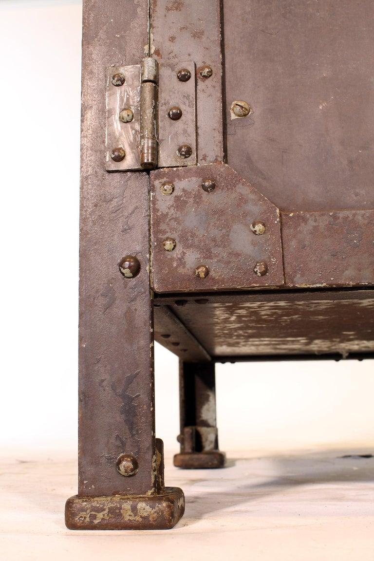 Pair of Vintage Industrial Bedside Tables / Nightstands For Sale 6