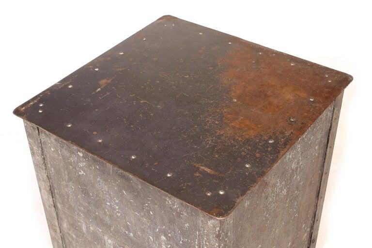 Pair of Vintage Industrial Bedside Tables / Nightstands For Sale 8