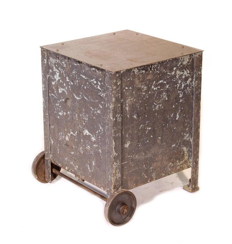 Pair of Vintage Industrial Bedside Tables / Nightstands For Sale 10