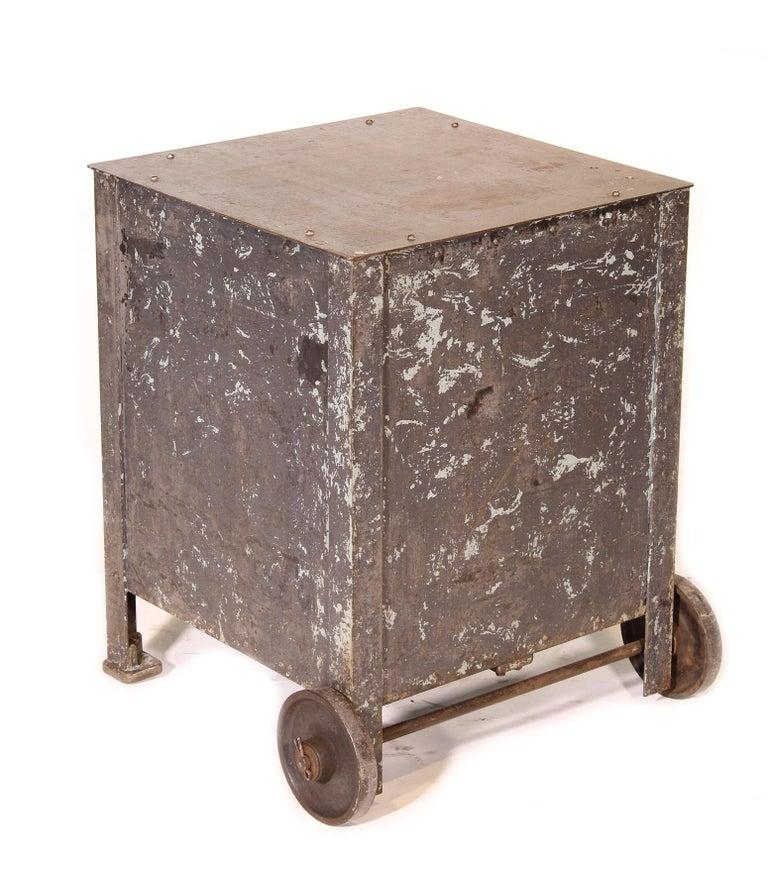 Pair of Vintage Industrial Bedside Tables / Nightstands For Sale 11