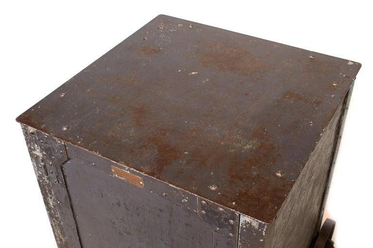 Pair of Vintage Industrial Bedside Tables / Nightstands For Sale 13