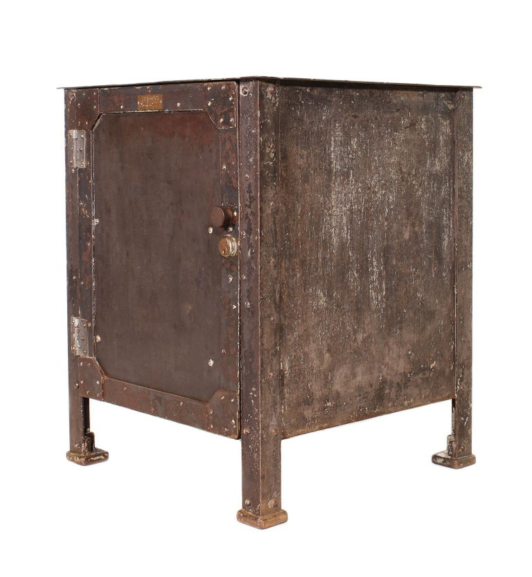 Authentic vintage steel riveted cabinets made by Textile Machine Works in Reading PA.  Measures: 25 1/8