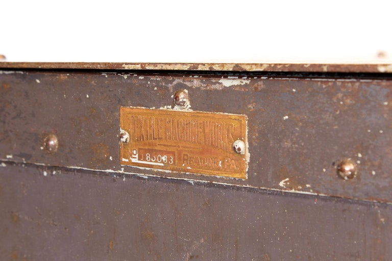 Pair of Vintage Industrial Bedside Tables / Nightstands For Sale 14
