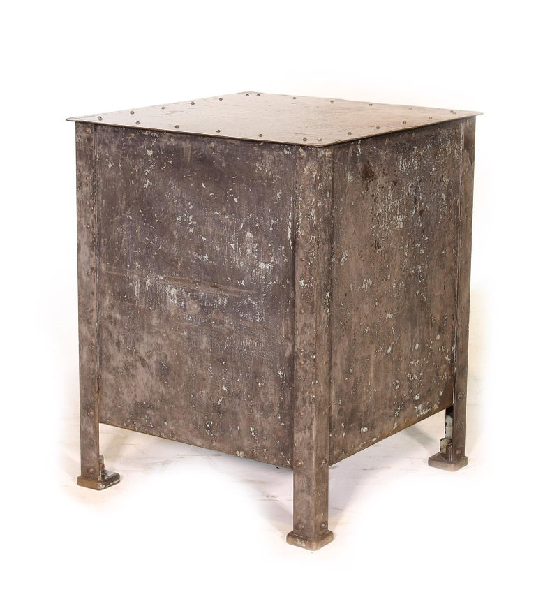 20th Century Pair of Vintage Industrial Bedside Tables / Nightstands For Sale