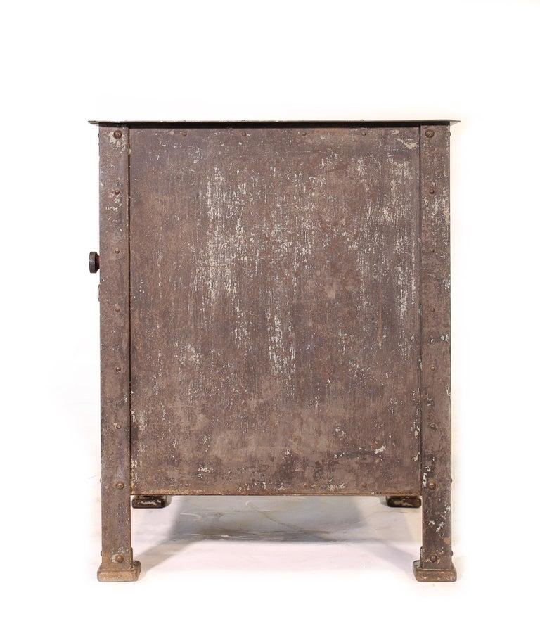 Pair of Vintage Industrial Bedside Tables / Nightstands For Sale 1