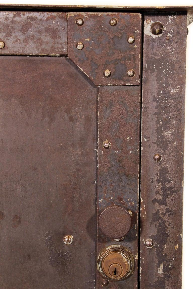 Pair of Vintage Industrial Bedside Tables / Nightstands For Sale 3