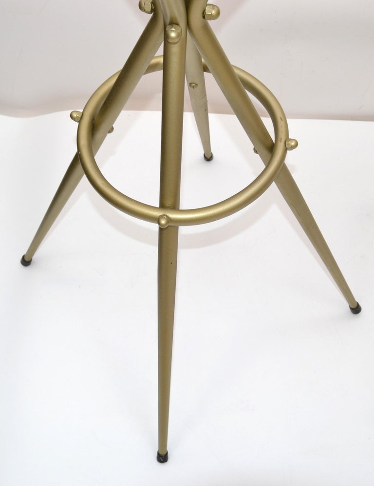 Pair of Vintage Italian Gio Ponti Style Bar Stool For Sale 2