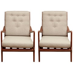 Pair of Vintage Italian Lounge Chairs