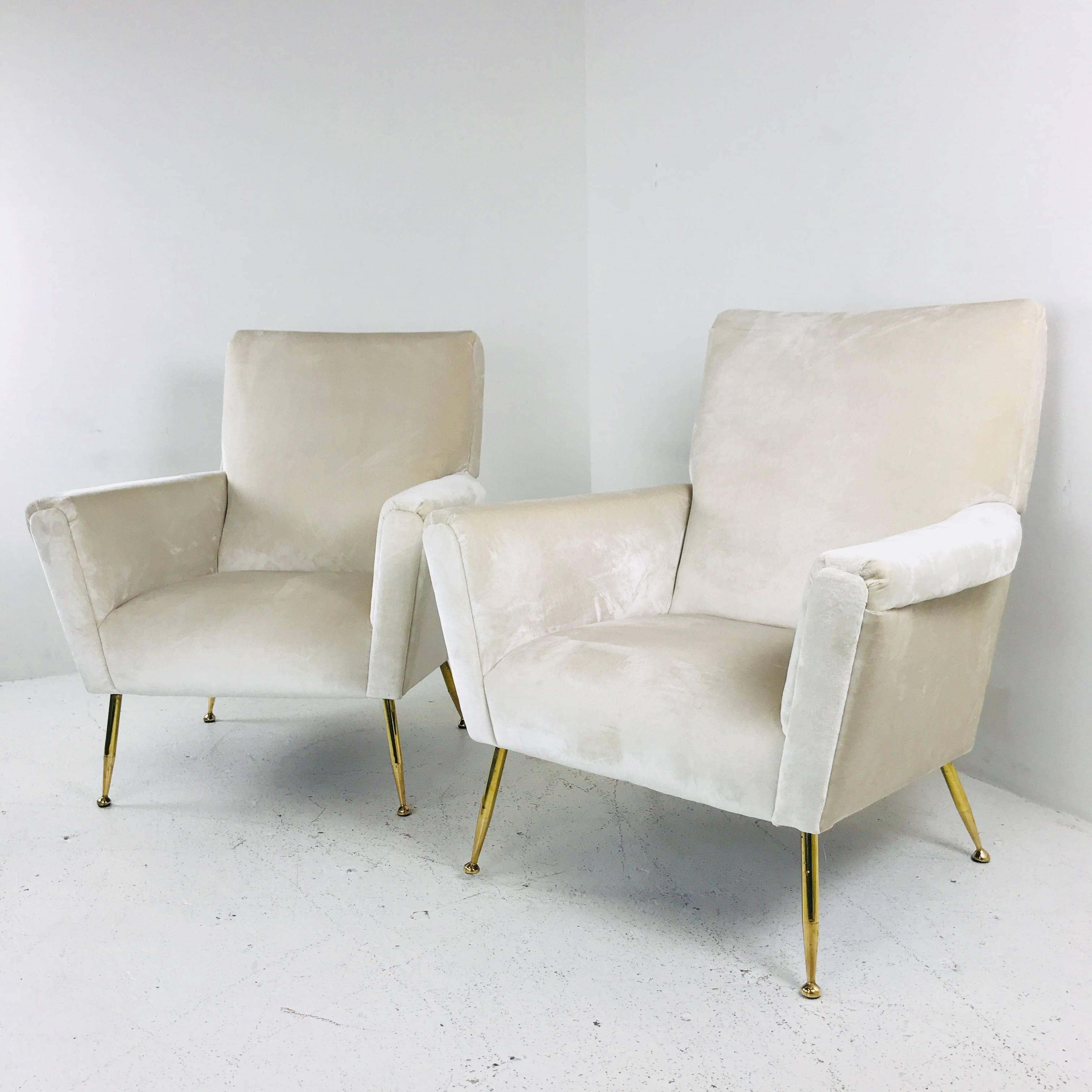 velvet brass stylish armchair chair feet with yellow
