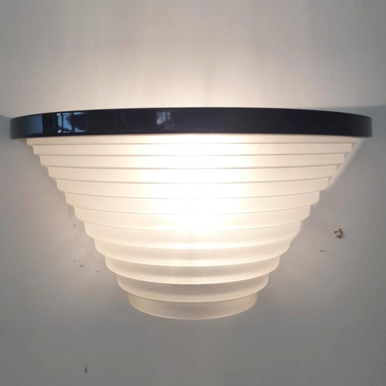 Metal Pair of Vintage Italian Sconces Designed by Angelo Mangiarotti for Artemide For Sale