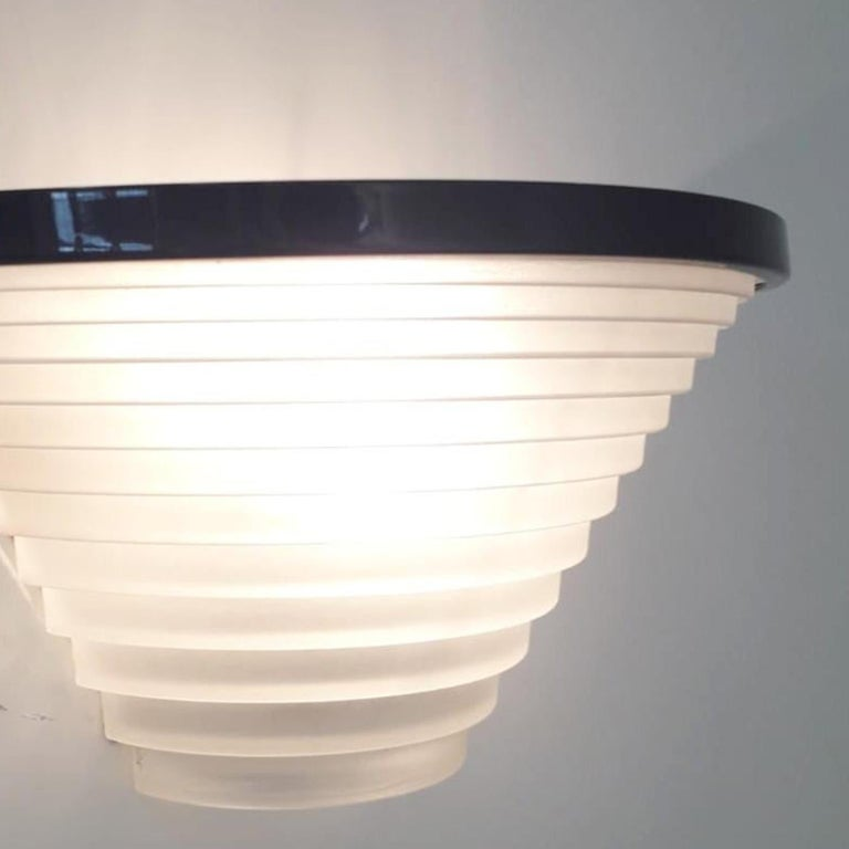 Pair of Vintage Italian Sconces Designed by Angelo Mangiarotti for Artemide For Sale 1