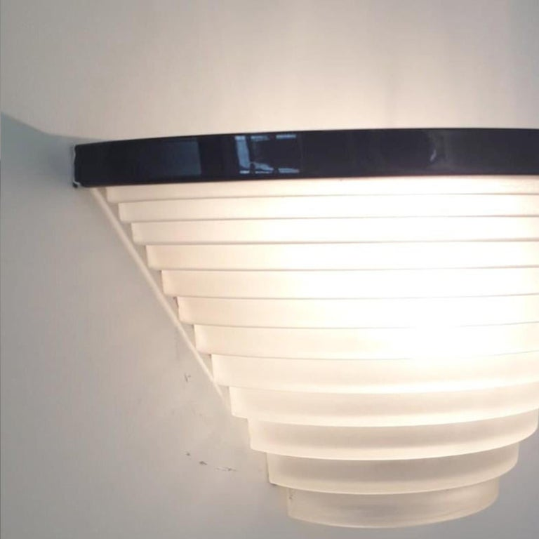 Pair of Vintage Italian Sconces Designed by Angelo Mangiarotti for Artemide For Sale 3