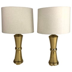 Pair of Vintage James Mont Style Brass Lamps