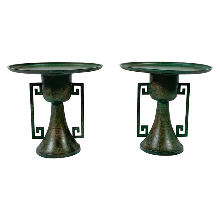 Pair of Vintage Japanese Bronze Usubata, Showa, Mid-20th Century, Japan For Sale