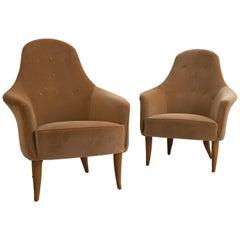 Pair of Vintage Kerstin Horlin Holmquist Midcentury Armchairs
