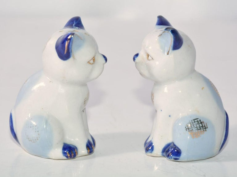 Unknown Pair of Vintage Kitty Salt and Pepper Shakers For Sale