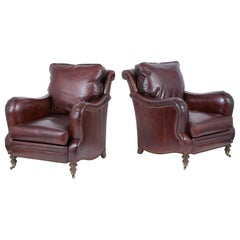 Pair of Vintage Leather Armchairs