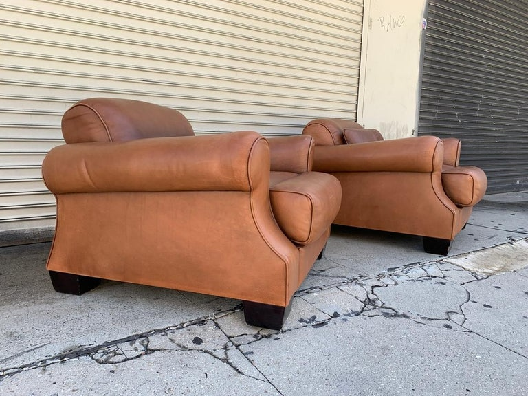 Pair of Vintage Leather Chairs by Nienkamper For Sale 4