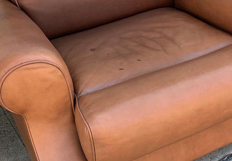 Pair of Vintage Leather Chairs by Nienkamper For Sale 6
