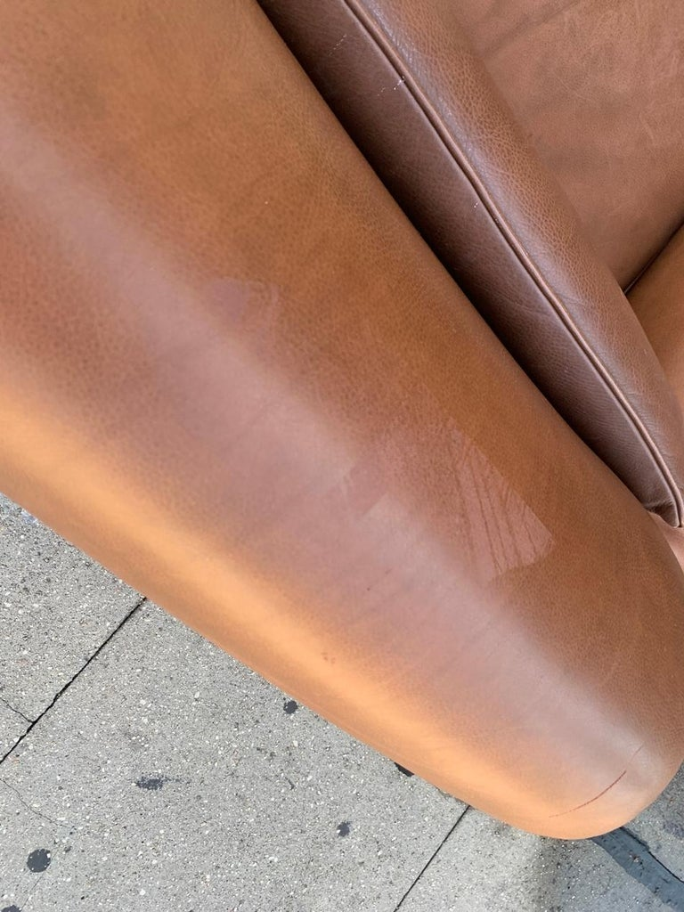 Pair of Vintage Leather Chairs by Nienkamper For Sale 10