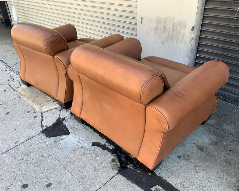 Pair of Vintage Leather Chairs by Nienkamper For Sale 1