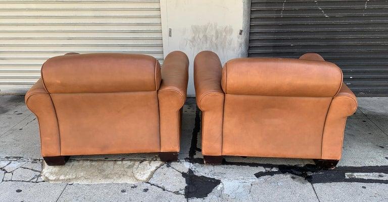 Pair of Vintage Leather Chairs by Nienkamper For Sale 2