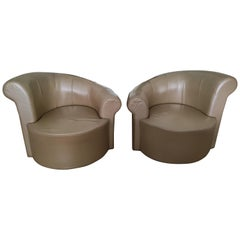 "Pair of Swiveling ""Nautilus"" Chairs by Vladimir Kagan"
