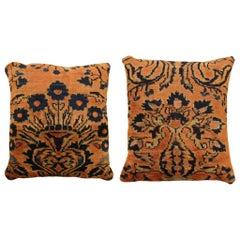 Pair of Vintage Lilihan Oriental Rug Pillows
