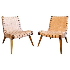 Pair of Vintage Lounge Chairs in the Style of Jens Risom