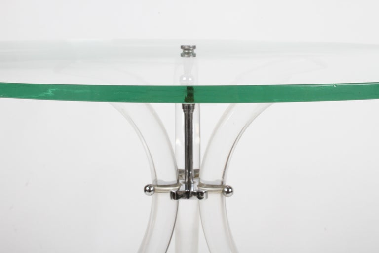 Mid-20th Century Pair of Vintage Lucite and Glass Side Tables in the Style of Dorothy Thorpe For Sale