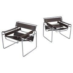Pair of Vintage Marcel Breuer Wassily Chairs