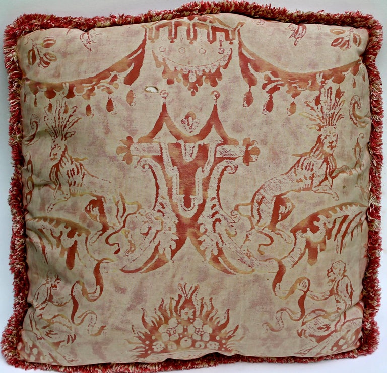 Spanish Pair of Vintage Mariano Fortuny Pillows,
